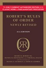 Robert's Rules of Order Newly Revised (RONR) - Hardcover