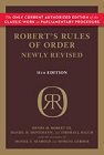 Robert's Rules of Order Newly Revised (RONR) - Paperback